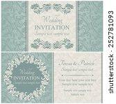 antique baroque wedding... | Shutterstock .eps vector #252781093