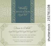 baroque wedding invitation card ... | Shutterstock .eps vector #252781108