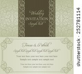 baroque wedding invitation card ... | Shutterstock .eps vector #252781114