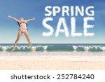 excited female model enjoy... | Shutterstock . vector #252784240