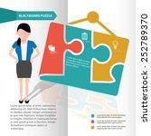 info puzzle info graphic design ... | Shutterstock .eps vector #252789370