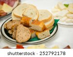 slices of bread lying on a... | Shutterstock . vector #252792178