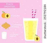 peach  apricot  and honey... | Shutterstock .eps vector #252792184