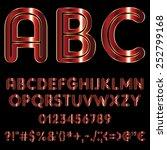 decorative font   red metallic...   Shutterstock .eps vector #252799168
