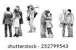 townspeople | Shutterstock . vector #252799543