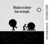 wisdom is better than strength | Shutterstock .eps vector #252801589