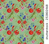 seamless floral pattern on... | Shutterstock .eps vector #252802468