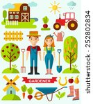 flat stylish icons for... | Shutterstock .eps vector #252802834