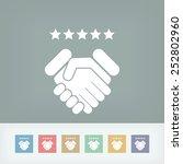 satisfaction for best service. | Shutterstock .eps vector #252802960