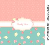 shabby chic. provence style.... | Shutterstock .eps vector #252805369