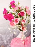 beautiful roses in vase  close... | Shutterstock . vector #252813013