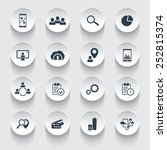 16 business 3d round icons...