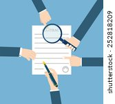 preparation business contract.   Shutterstock .eps vector #252818209