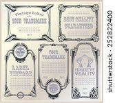 vector vintage style labels and ... | Shutterstock .eps vector #252822400