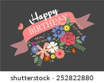 happy birthday card | Shutterstock .eps vector #252822880