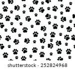 footprints of cat  seamless...   Shutterstock .eps vector #252824968