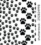 footprints of cat  seamless... | Shutterstock .eps vector #252824998