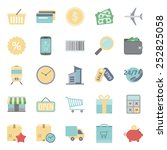 sales and shopping color flat... | Shutterstock .eps vector #252825058