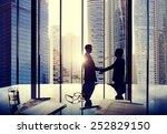 business handshake agreement... | Shutterstock . vector #252829150