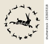 Stock vector rabbits 252835318