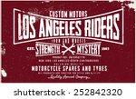 los angeles rider tee graphic | Shutterstock .eps vector #252842320
