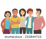 vector character flat design of ... | Shutterstock .eps vector #252844723