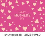 happy mother's day card | Shutterstock .eps vector #252844960