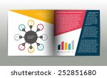 booklet page. magazine layout... | Shutterstock .eps vector #252851680