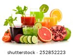 glasses with fresh organic... | Shutterstock . vector #252852223
