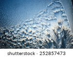 close up of frost on the glass... | Shutterstock . vector #252857473