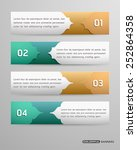 set of banners template with ... | Shutterstock .eps vector #252864358