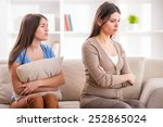 mother and teen daughter after...   Shutterstock . vector #252865024