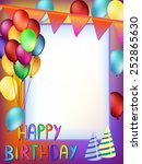 colorful happy birthday words... | Shutterstock .eps vector #252865630