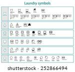 icon set of black laundry... | Shutterstock .eps vector #252866494
