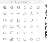 internet linear icon ui