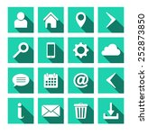 vector set of flat web icons... | Shutterstock .eps vector #252873850