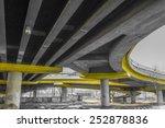 under a concrete road bridge... | Shutterstock . vector #252878836