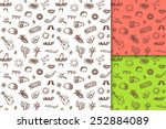 mexican seamless hand drawn... | Shutterstock .eps vector #252884089