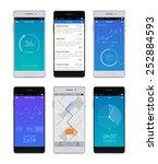 realistic 3d smartphones set...