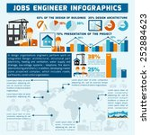 engineer infographics set with... | Shutterstock .eps vector #252884623