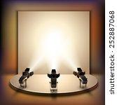 show studio film scene empty... | Shutterstock .eps vector #252887068
