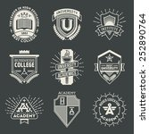 assorted retro design insignias ... | Shutterstock .eps vector #252890764