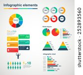 set of multicolored infographic ... | Shutterstock .eps vector #252893560
