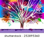 abstract tree with paint spots...