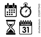 time clock icon   Shutterstock .eps vector #252897043