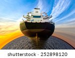 Maritime transport - a vision of humorous. - stock photo