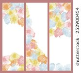 set of three  hand painted... | Shutterstock .eps vector #252900454