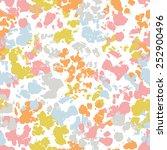 hand painted textured motley... | Shutterstock .eps vector #252900496