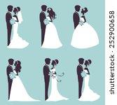 illustration of six wedding... | Shutterstock .eps vector #252900658