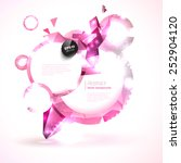 composition of pink shiny round ... | Shutterstock .eps vector #252904120